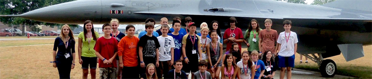 Students at Truax Airfield: photo courtesy COE Communications